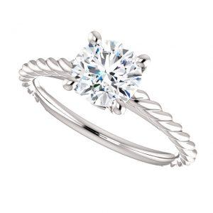 Briliantový prsteň Phaedra zo 14k bieleho zlata