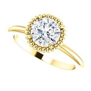 Briliantový prsteň Cassiopeia zo 14k žltého zlata