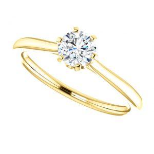 Briliantový prsteň Eulalia zo 14k žltého zlata