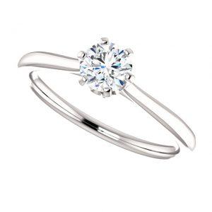 Briliantový prsteň Eulalia zo 14k bieleho zlata