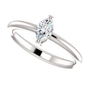 Briliantový prsteň Ianthe zo 14k bieleho zlata