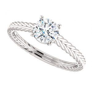 Briliantový prsteň Jubilee zo 14k bieleho zlata