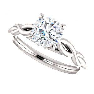 Briliantový prsteň Minerva zo 14k bieleho zlata