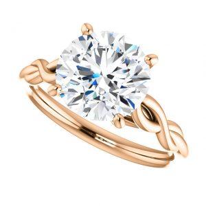 Briliantový prsteň Minerva zo 14k ružového zlata