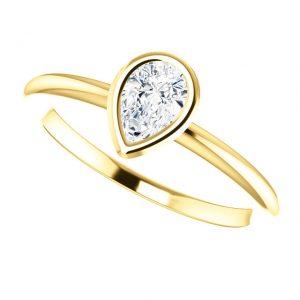 Briliantový prsteň Odelia zo 14k žltého zlata