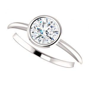 Briliantový prsteň Odelia zo 14k bieleho zlata