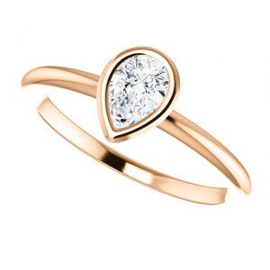 Briliantový prsteň Odelia zo 14k ružového zlata