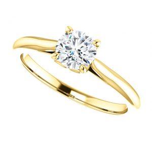 Briliantový prsteň Odette zo 14k žltého zlata