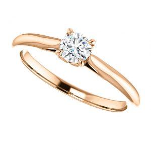Briliantový prsteň Odette zo 14k ružového zlata