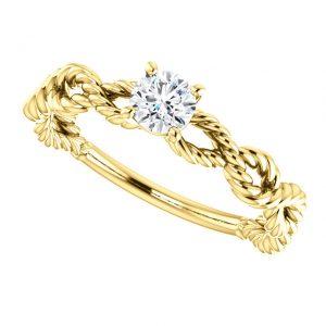 Briliantový prsteň Ophelia zo 14k žltého zlata