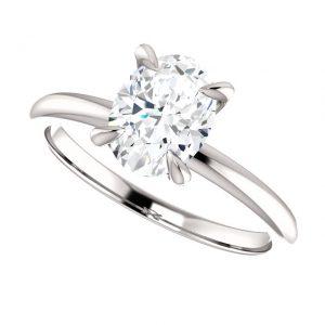 Briliantový prsteň Rowena zo 14k bieleho zlata