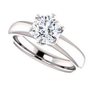 Briliantový prsteň Ursula zo 14k bieleho zlata