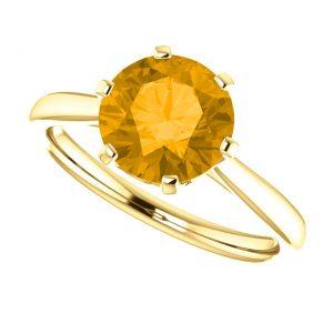 Citrínový prsteň Eulalia zo 14k žltého zlata