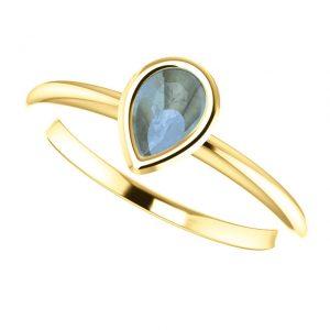 Koralový prsteň Odelia zo 14k žltého zlata