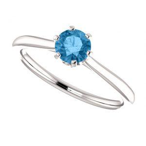 Topásový prsteň Eulalia zo 14k bieleho zlata