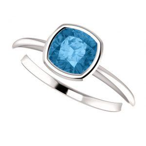 Topásový prsteň Odelia zo 14k bieleho zlata