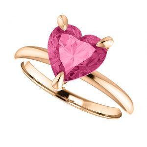 Turmalínový prsteň Rowena zo 14k ružového zlata