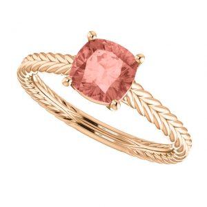 Zafírový prsteň Jubilee zo 14k ružového zlata