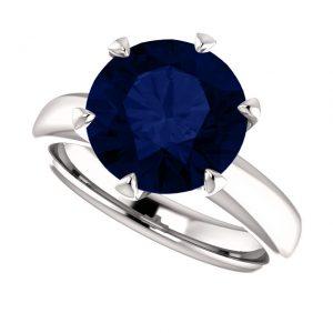 Zafírový prsteň Ursula zo 14k bieleho zlata