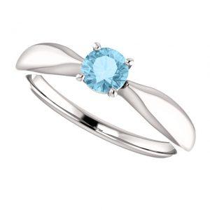Akvamarínový prsteň Zelda zo 14k bieleho zlata
