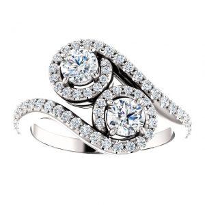 Briliantový prsteň Andromeda zo 14k bieleho zlata