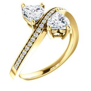 Briliantový prsteň Cassia zo 14k žltého zlata