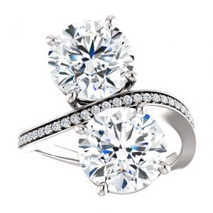 Briliantový prsteň Cassia zo 14k bieleho zlata