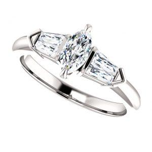Briliantový prsteň Cressida zo 14k bieleho zlata