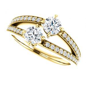 Briliantový prsteň Galatea zo 14k žltého zlata