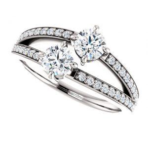 Briliantový prsteň Galatea zo 14k bieleho zlata