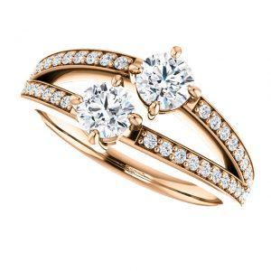 Briliantový prsteň Galatea zo 14k ružového zlata