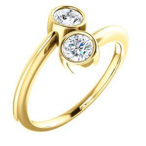 Briliantový prsteň Laelia zo 14k žltého zlata