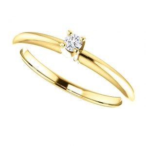Briliantový prsteň Mirabelle zo 14k žltého zlata