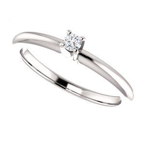 Briliantový prsteň Mirabelle zo 14k bieleho zlata
