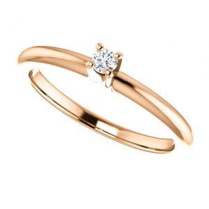 Briliantový prsteň Mirabelle zo 14k ružového zlata