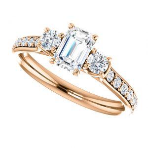 Briliantový prsteň Octavia zo 14k ružového zlata