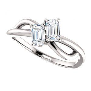 Briliantový prsteň Odetta zo 14k bieleho zlata