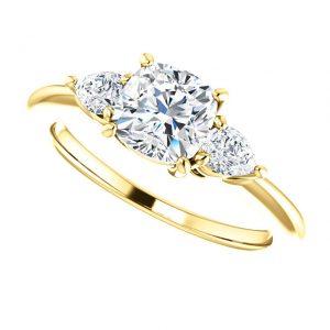Briliantový prsteň Orla zo 14k žltého zlata