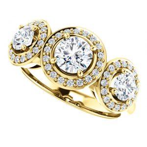 Briliantový prsteň Waverly zo 14k žltého zlata
