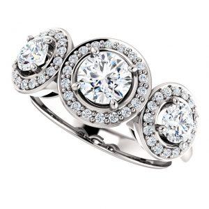 Briliantový prsteň Waverly zo 14k bieleho zlata