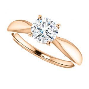 Briliantový prsteň Zelda zo 14k ružového zlata