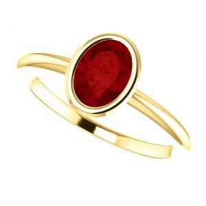 Rubínový prsteň Odelia zo 14k žltého zlata