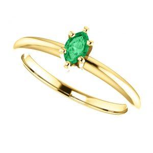 Smaragdový prsteň Mirabelle zo 14k žltého zlata