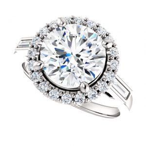 Briliantový prsteň Amadea zo 14k bieleho zlata