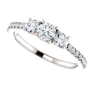 Briliantový prsteň Ariadne zo 14k bieleho zlata