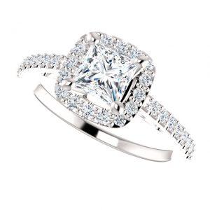 Briliantový prsteň Cosette zo 14k bieleho zlata