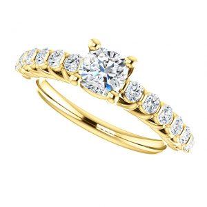 Briliantový prsteň Eulalie zo 14k žltého zlata