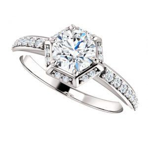 Briliantový prsteň Freya zo 14k bieleho zlata