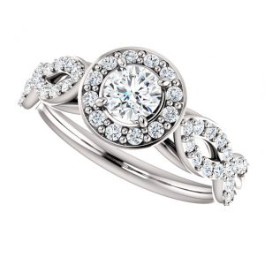 Briliantový prsteň Galilea zo 14k bieleho zlata