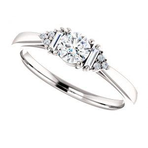 Briliantový prsteň Henrietta zo 14k bieleho zlata